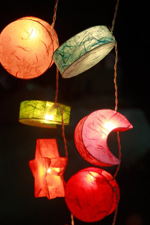 Colourful mulberry paper Lanterns