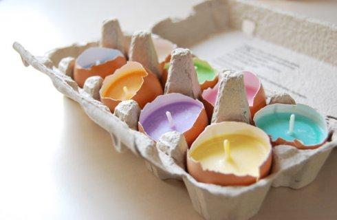 Eggshells Candles