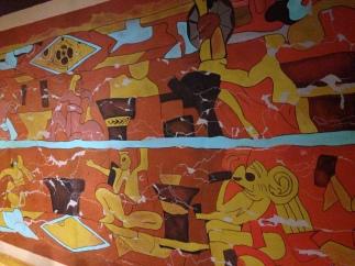 Representación pintura rupestre en Cholula