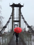 red umbrella bridge