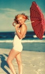 Red Umbrella Pin Up