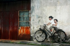 bicycling_street art