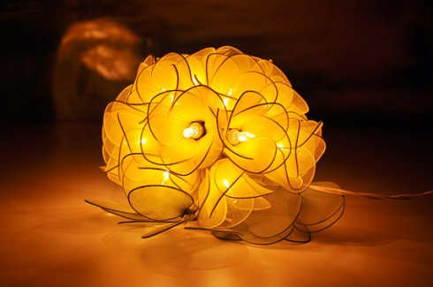 Yellow flower light