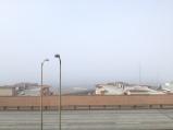 Fog behind the dock