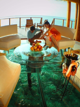 glass floor ocean cottage